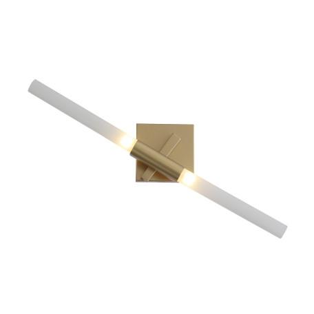 Бра с регулировкой направления света ST Luce Laconicita SL947.201.02, 2xG9x40W, матовое золото, белый, металл, стекло