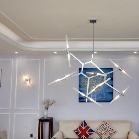 Настенный светильник с регулировкой направления света ST Luce Laconicita SL947.101.02, 2xG9x40W, серебро, белый, металл, стекло