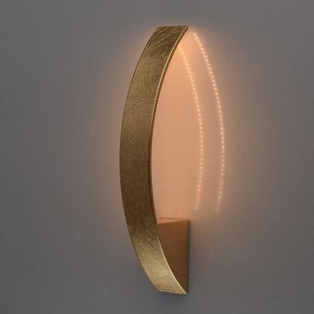 Настенный светодиодный светильник De Markt Галатея 452022001, LED 9W, 3000K (теплый), матовое золото, металл