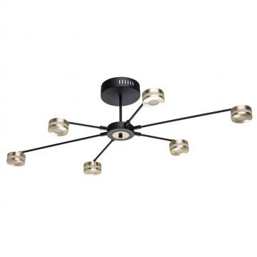 Потолочная люстра с регулировкой направления света De Markt Гэлэкси 632015206, матовое золото, черный, матовый, металл, пластик