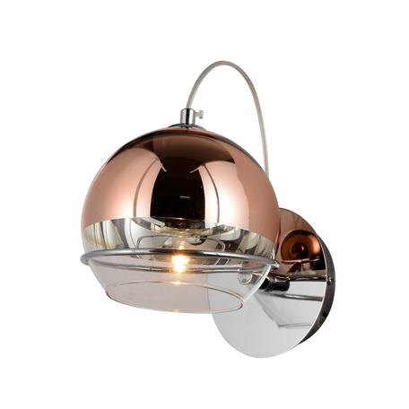 Настенный светильник Lumina Deco Veroni LDW 1029-1 R.GD, 1xG9x40W, медь, металл, стекло