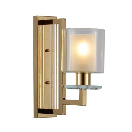 Настенный светильник Lumina Deco Manhattan LDW 8012-1W F.GD, 1xE27x40W, золото, белый, прозрачный, металл со стеклом, стекло