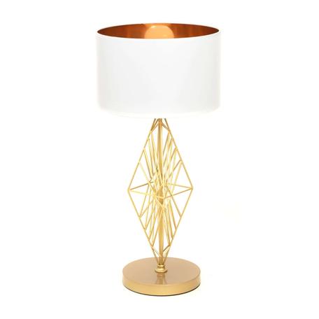 Настольная лампа Lumina Deco Salvari LDT 5533 GD+WT, 1xE27x40W, золото, белый, металл, текстиль