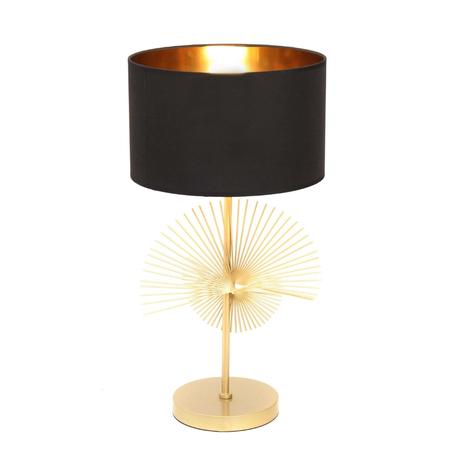Настольная лампа Lumina Deco Fonti LDT 5534 GD+BK, 1xE27x40W, золото, черный с золотом, металл, текстиль