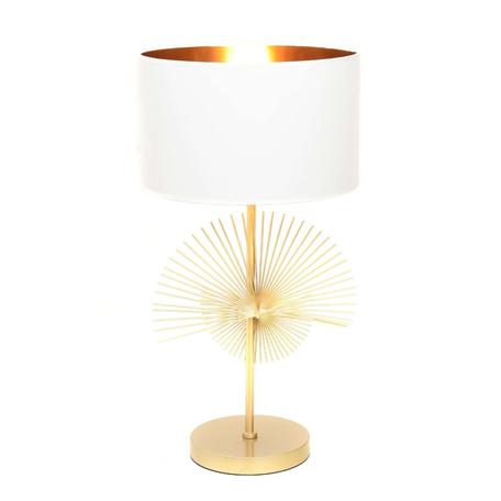 Настольная лампа Lumina Deco Fonti LDT 5534 GD+WT, 1xE27x40W, золото, белый, металл, текстиль
