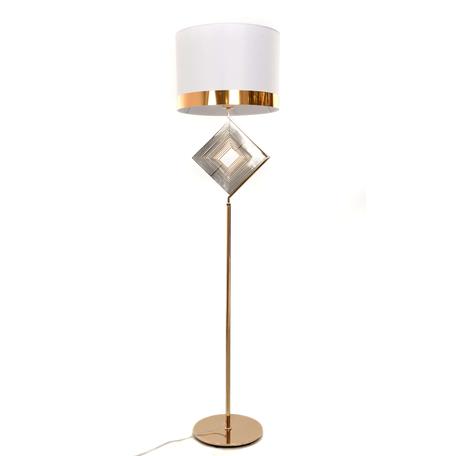 Торшер Lumina Deco Fabi LDF 5529 F.GD+WT, 1xE27x40W, золото, белый, металл, текстиль