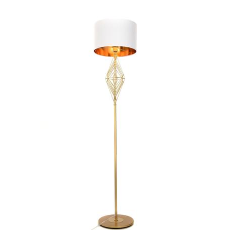 Торшер Lumina Deco Salvari LDF 5533 GD+WT, 1xE27x40W, золото, белый, металл, текстиль