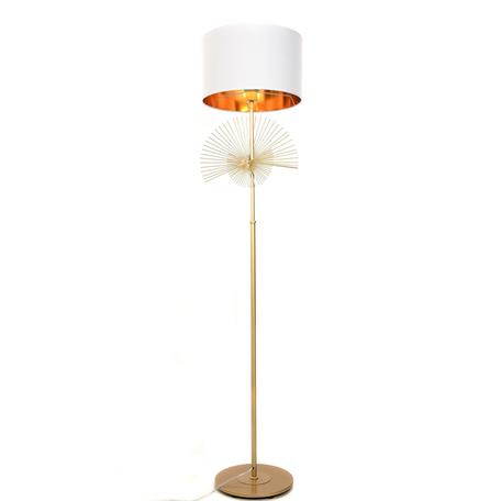 Торшер Lumina Deco Fonti LDF 5534 GD+WT, 1xE27x40W, золото, белый, металл, текстиль