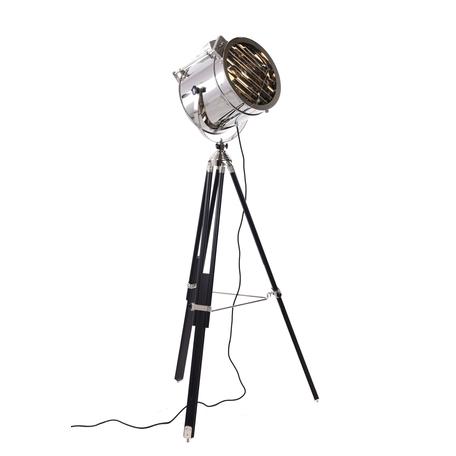Торшер Lumina Deco Cameron LDF 5535-1 CHR+BK, 1xE27x40W, черный, хром, металл