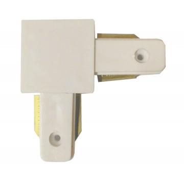 L-образный соединитель для шинопровода Kink Light 167,01, белый, металл