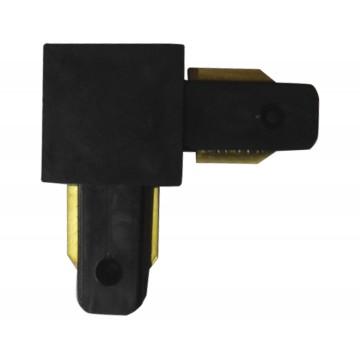 L-образный соединитель для шинопровода Kink Light 167,19, черный, металл