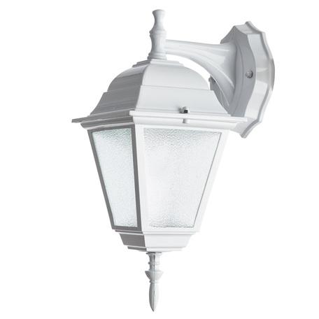 Настенный фонарь Arte Lamp Bremen A1012AL-1WH, IP44, 1xE27x60W, белый, металл, металл со стеклом