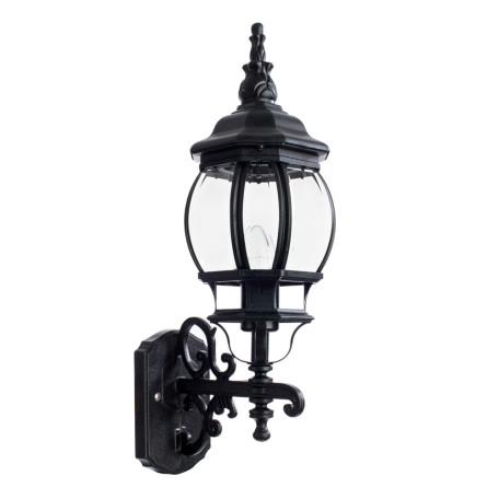 Настенный фонарь Arte Lamp Atlanta A1041AL-1BG, IP21, 1xE27x75W, бирюзовый, прозрачный, металл, ковка, металл со стеклом
