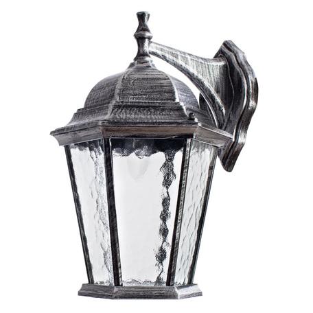 Настенный фонарь Arte Lamp Genova A1202AL-1BS, IP21, 1xE27x75W, серый, черненое серебро, прозрачный, металл, металл со стеклом