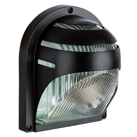Настенный светильник Arte Lamp Urban A2802AL-1BK, IP54, 1xE27x60W, черный, металл со стеклом, стекло