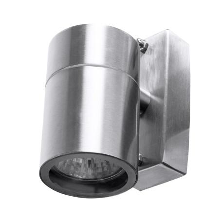 Настенный светильник Arte Lamp Instyle Mistero A3202AL-1SS, IP44, 1xGU10x35W, серебро, металл, стекло