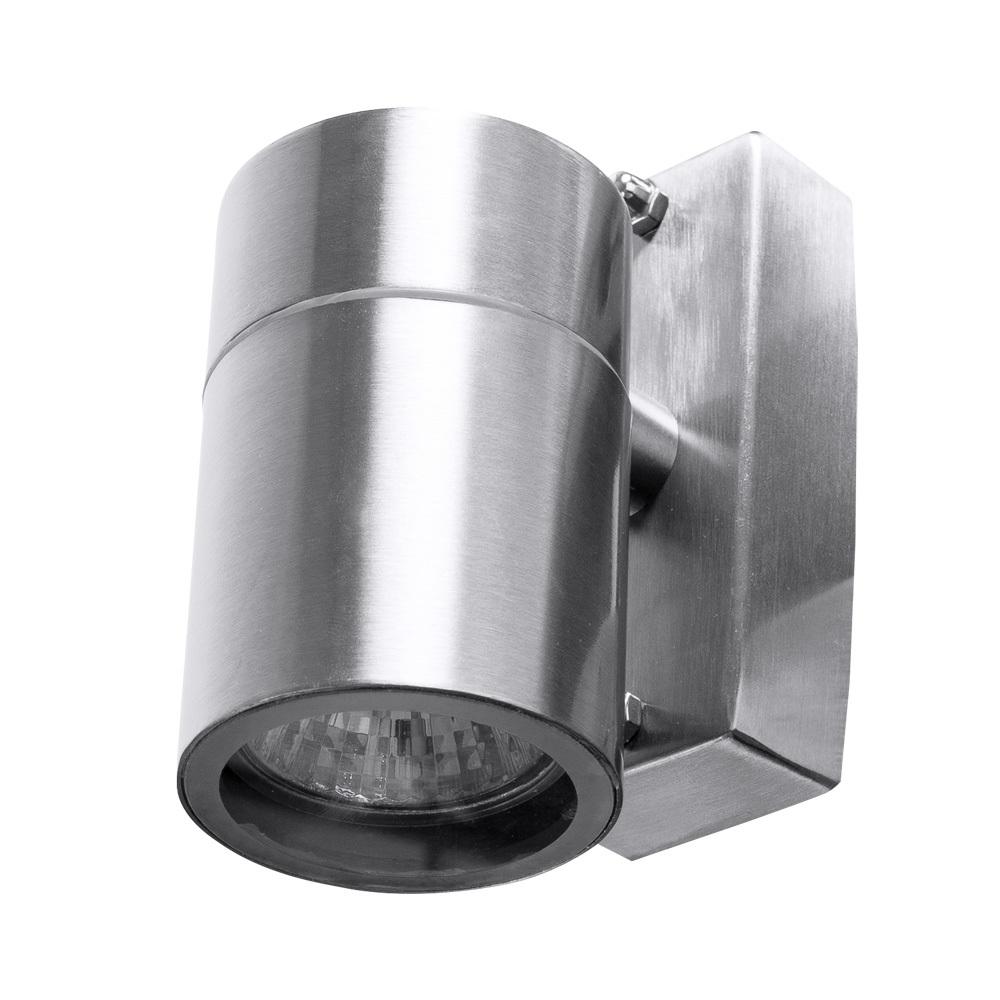 Настенный светильник Arte Lamp Instyle Mistero A3202AL-1SS, IP44, 1xGU10x35W, серебро, металл, стекло - фото 1