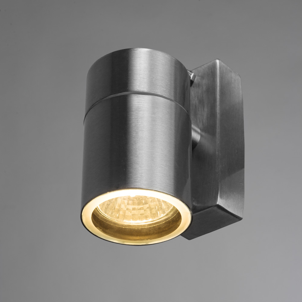 Настенный светильник Arte Lamp Instyle Mistero A3202AL-1SS, IP44, 1xGU10x35W, серебро, металл, стекло - фото 2