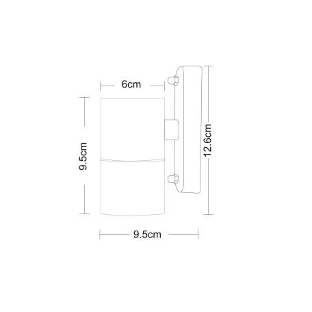 Схема с размерами Arte Lamp Instyle A3202AL-1SS