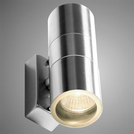 Настенный светильник Arte Lamp Instyle Mistero A3202AL-2SS, IP44, 2xGU10x35W, серебро, металл, стекло