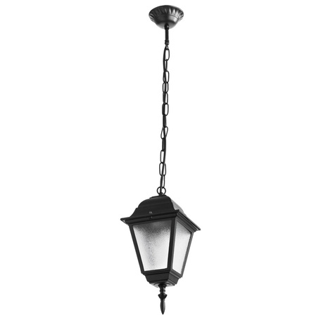Подвесной светильник Arte Lamp Bremen A1015SO-1BK, IP44, 1xE27x60W, черный, белый, металл, стекло