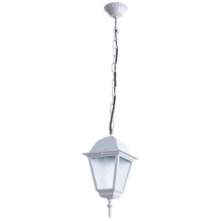 Подвесной светильник Arte Lamp Bremen A1015SO-1WH, IP44, 1xE27x60W, белый, металл, металл со стеклом