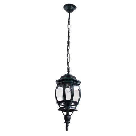 Подвесной светильник Arte Lamp Atlanta A1045SO-1BG, IP21, 1xE27x75W, бирюзовый, прозрачный, металл, ковка, металл со стеклом - миниатюра 1