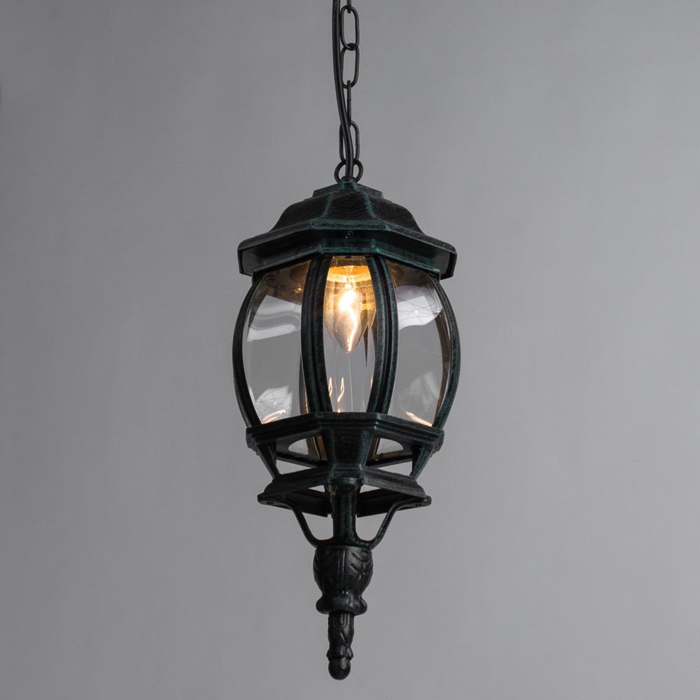 Подвесной светильник Arte Lamp Atlanta A1045SO-1BG, IP21, 1xE27x75W, бирюзовый, прозрачный, металл, ковка, металл со стеклом - фото 2