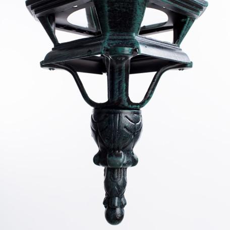 Подвесной светильник Arte Lamp Atlanta A1045SO-1BG, IP21, 1xE27x75W, бирюзовый, прозрачный, металл, ковка, металл со стеклом - миниатюра 3