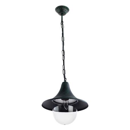 Подвесной светильник Arte Lamp Malaga A1085SO-1BG, IP44, 1xE27x75W, бирюзовый, прозрачный, металл, металл с пластиком