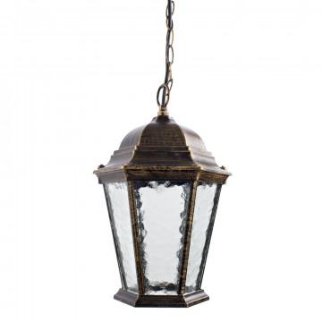 Подвесной светильник Arte Lamp Genova A1205SO-1BN, IP21, 1xE27x75W, черненое золото, прозрачный, черный с золотой патиной, металл, металл со стеклом