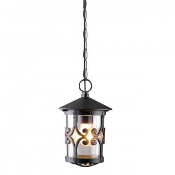 Подвесной светильник Arte Lamp Persia A1455SO-1BK, IP44, 1xE27x75W, черный, прозрачный, металл, стекло