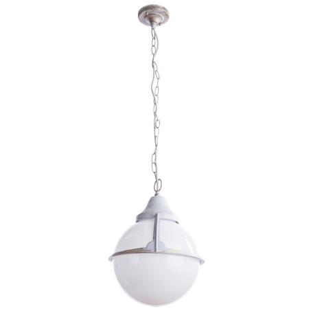 Подвесной светильник Arte Lamp Monaco A1495SO-1WG, IP44, 1xE27x75W, белый с золотой патиной, белый, металл, пластик