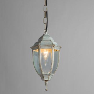 Подвесной светильник Arte Lamp Pegasus A3151SO-1WG, IP44, 1xE27x60W, белый с золотой патиной, прозрачный, металл, металл со стеклом - миниатюра 2