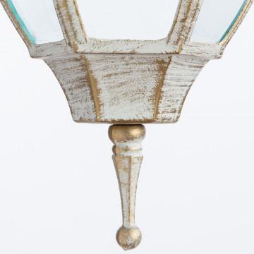 Подвесной светильник Arte Lamp Pegasus A3151SO-1WG, IP44, 1xE27x60W, белый с золотой патиной, прозрачный, металл, металл со стеклом - миниатюра 3