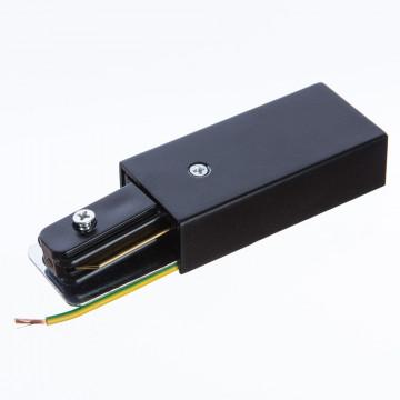 Боковой подвод питания для трековой системы Arte Lamp Instyle A160006, черный, пластик