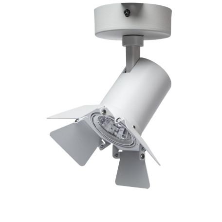 Потолочный светодиодный светильник с регулировкой направления света Arte Lamp Instyle Falena A6709AP-1WH, LED 9W 4000K 560lm CRI≥80, белый, металл