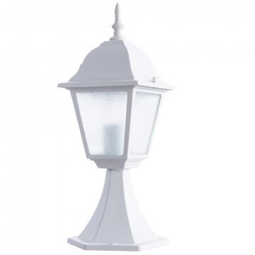 Садово-парковый светильник Arte Lamp Bremen A1014FN-1WH, IP44, 1xE27x60W, белый, металл, металл со стеклом