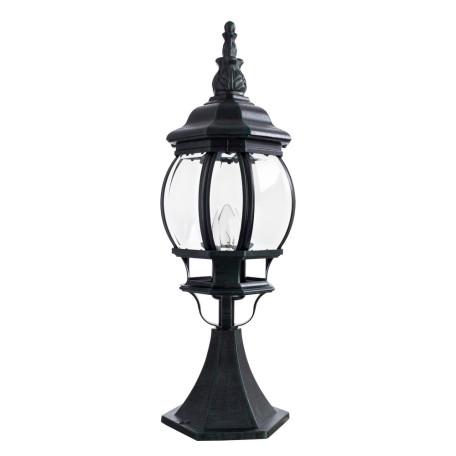 Садово-парковый светильник Arte Lamp Atlanta A1044FN-1BG, IP21, 1xE27x75W, бирюзовый, прозрачный, металл, ковка, металл со стеклом