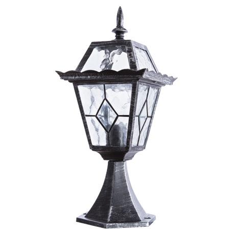 Садово-парковый светильник Arte Lamp Paris A1354FN-1BS, IP44, 1xE27x75W, черненое серебро, прозрачный, металл, стекло