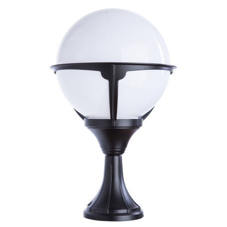 Садово-парковый светильник Arte Lamp Monaco A1494FN-1BK, IP44, 1xE27x75W, черный, черно-белый, металл, ковка, металл с пластиком