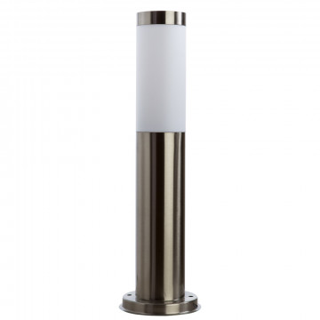 Садово-парковый светильник Arte Lamp Salire A3158PA-1SS, IP44, 1xE27x40W, серебро, белый, металл, пластик
