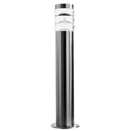 Садово-парковый светильник Arte Lamp Portica A8381PA-1SS, IP44, 1xE27x20W, серебро, прозрачный, металл, пластик
