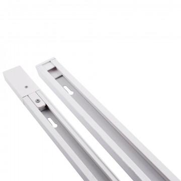 Шинопровод в сборе с питанием и заглушкой Arte Lamp Instyle A510033, белый, металл