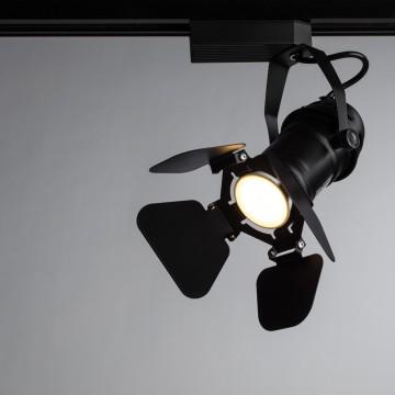 Светильник для шинной системы Arte Lamp Instyle Petalo A5319PL-1BK, 1xGU10x50W, черный, металл - миниатюра 1