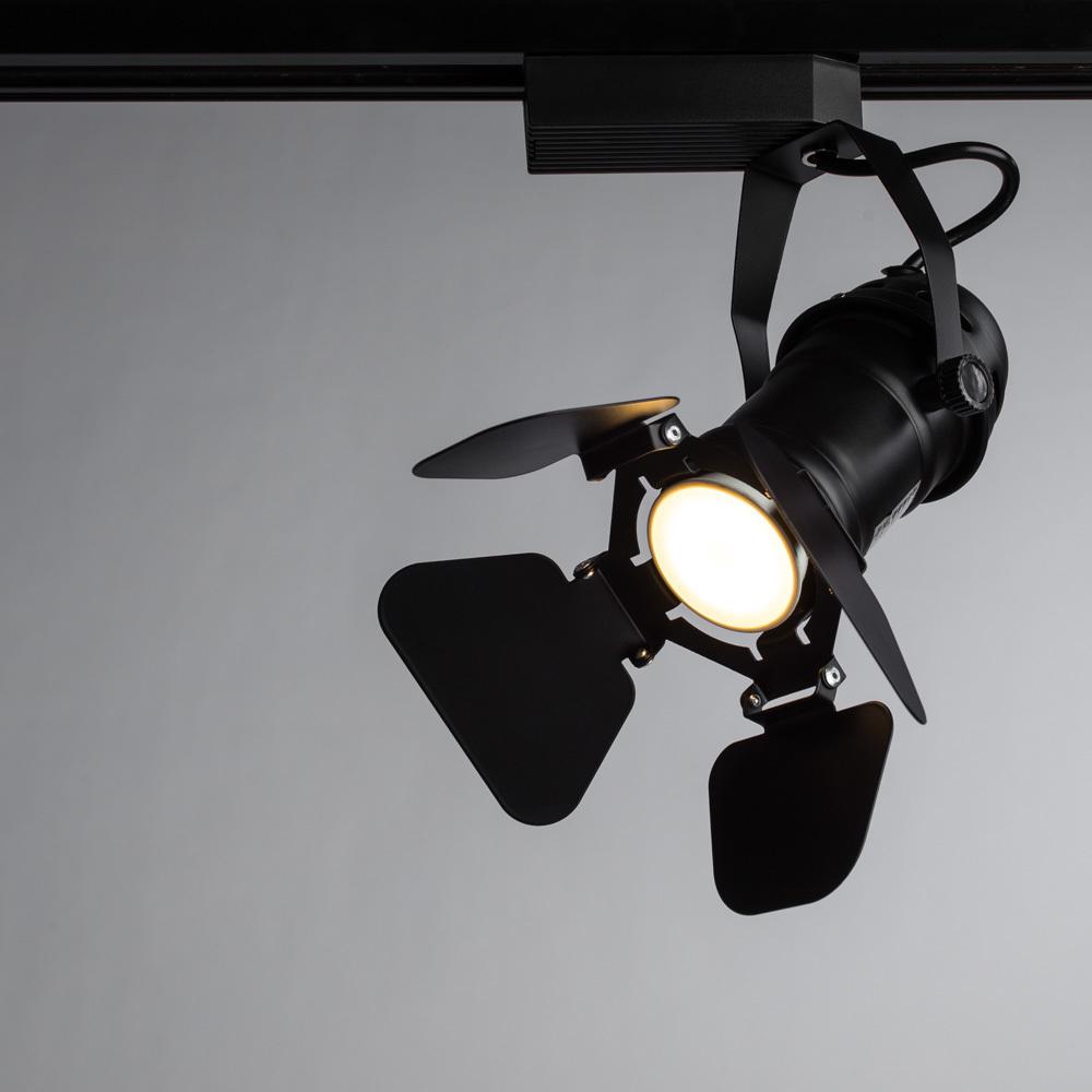 Светильник для шинной системы Arte Lamp Instyle Petalo A5319PL-1BK, 1xGU10x50W, черный, металл - фото 1