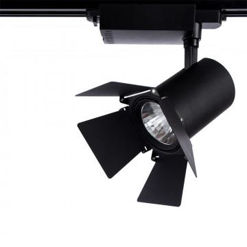 Светодиодный светильник для шинной системы Arte Lamp Instyle Falena A6730PL-1BK, LED 30W, 4000K (дневной), черный, металл