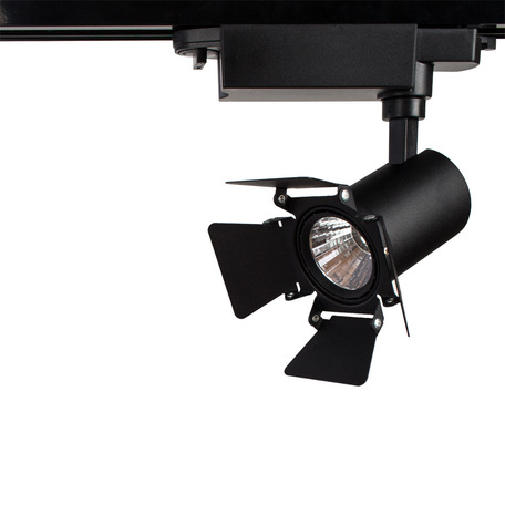 Светодиодный светильник с регулировкой направления света для шинной системы Arte Lamp Instyle Falena A6709PL-1BK, LED 9W 4000K 560lm CRI≥80, черный, металл