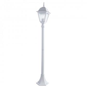 Уличный фонарь Arte Lamp Bremen A1016PA-1WH, IP44, 1xE27x60W, белый, металл, металл со стеклом