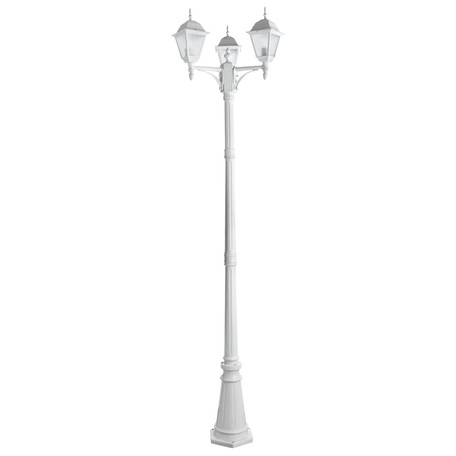 Уличный фонарь Arte Lamp Bremen A1017PA-3WH, IP44, 3xE27x60W, белый, металл, стекло